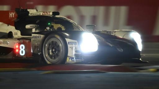 Spanish driver Fernando Alonso shone through the night at Le Mans