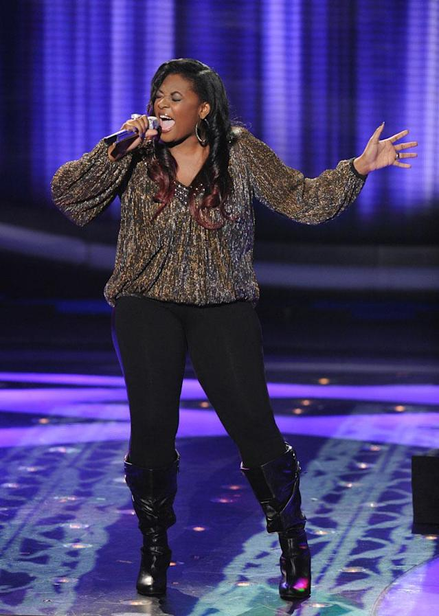 "Candice Glover performs The Miracles' ""I Heard It Through the Grapevine"" on the Wednesday, March 27 episode of ""American Idol."""