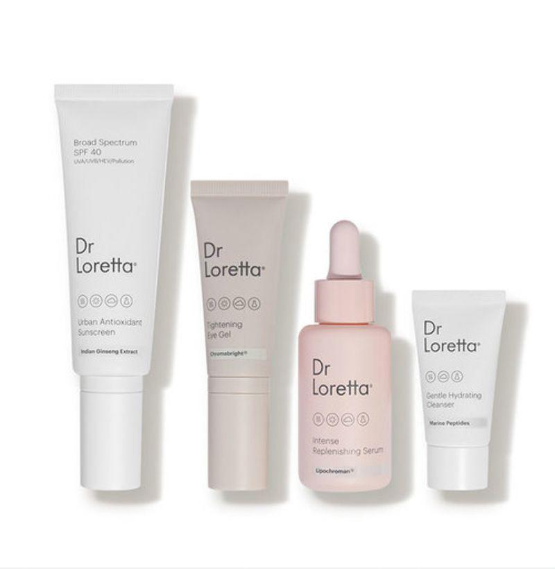 """<p><strong>Dr. Loretta</strong></p><p>dermstore.com</p><p><strong>$135.00</strong></p><p><a href=""""https://go.redirectingat.com?id=74968X1596630&url=https%3A%2F%2Fwww.dermstore.com%2Fproduct_The%2BEssentials%2BRegimen%2BSet_85156.htm&sref=https%3A%2F%2Fwww.esquire.com%2Flifestyle%2Fg18726497%2Flast-minute-mothers-day-gift-ideas%2F"""" rel=""""nofollow noopener"""" target=""""_blank"""" data-ylk=""""slk:Buy"""" class=""""link rapid-noclick-resp"""">Buy</a></p><p>Dermatologist Dr. Loretta's products are clean and gentle, and most importantly, they work wonders. If she's always telling you about the new bottles she picked up at Sephora, she'll love this set.</p>"""
