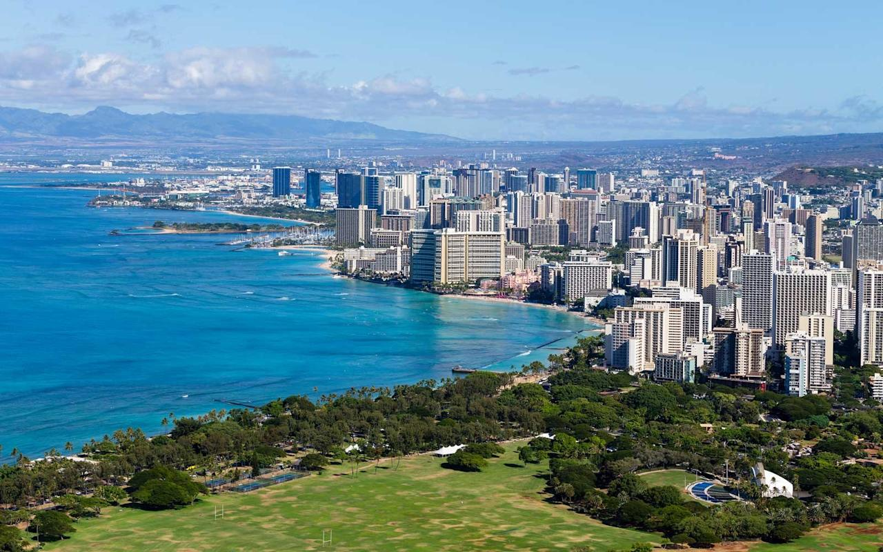 "<p>The food and cocktail scene in <a href=""https://www.travelandleisure.com/travel-guide/honolulu"" target=""_blank"">Honolulu</a> has been off the charts lately, and this month, Hawaii's bustling capital is set to get even tastier with the opening of a new restaurant by celebrity chef <a href=""http://www.foodandwine.com/how/morimoto-sushi-three-golden-rules"" target=""_blank"">Masaharu Morimoto</a>. Located inside the newly opened Alohilani Resort, <a href=""https://www.alohilaniresort.com/dining/morimoto-asia/"" target=""_blank"">Morimoto Asia Waikiki</a> will bolster the Iron Chef's Hawaiian presence with his signature Asian fusion dishes, including Peking duck, sticky ribs, Korean <em>kalbi</em>, and dim sum. Shortly after, the chef's <a href=""https://www.alohilaniresort.com/dining/momosan/"">Momosan Waikiki</a> will open on the hotel's ground floor, with an all-day menu of noodles, gyoza, and yakitori.</p>"