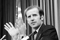 """<p>Biden, in 1978, introducing the report of an 18-month investigation conducted by his Senate Intelligence subcommittee. The group reported """"a major failure"""" by the government over the years to prosecute serious criminal leaks of sensitive information.</p>"""