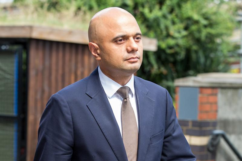 Sajid Javid visiting the scene of the fire that destroyed the Grenfell Tower block: Alex Lentati
