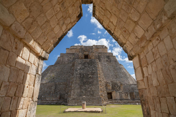 The Pyramid of the Magician, in Uxmal, Mexico in 2019. (Adrian Wilson/The New York Times)