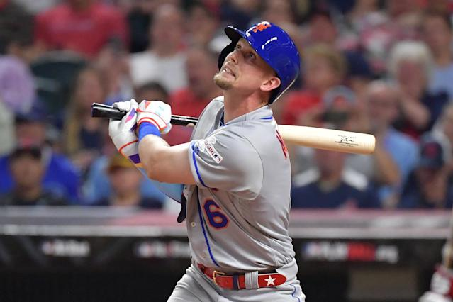 Jeff McNeil #6 of the New York Mets participates in the 2019 MLB All-Star Game at Progressive Field on July 09, 2019 in Cleveland, Ohio. (Photo by Jason Miller/Getty Images)