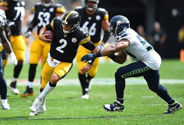 Pittsburgh Steelers back-up Mason Rudolph says he is ready to fill the void created by Ben Roethlisberger's injury (AFP Photo/Joe Sargent)