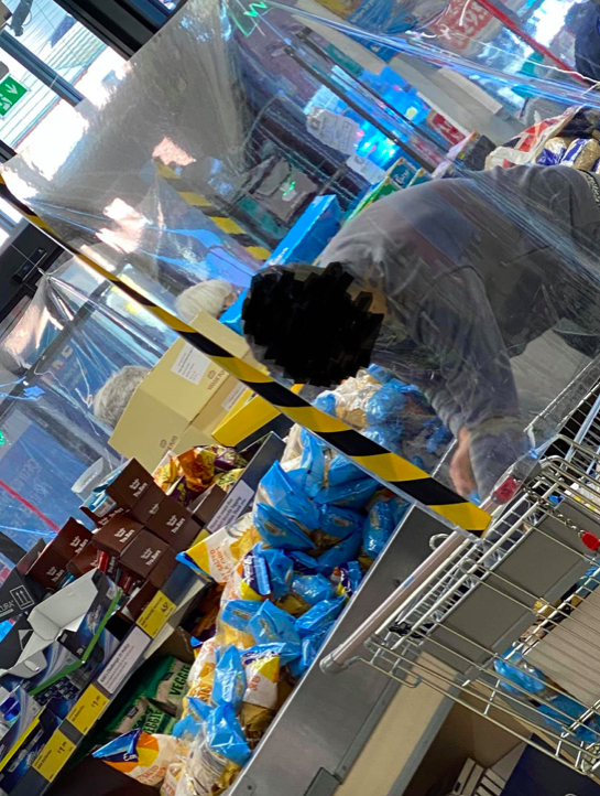 The shopper had piled his trolley with dry goods ahead of the second national lockdown. (Reach)
