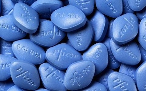 Viagra pills made by Pfizer - Credit: AFP