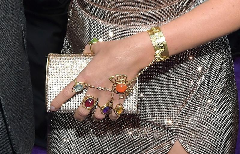 Johansson's jewelry. (Photo: Amy Sussman via Getty Images)