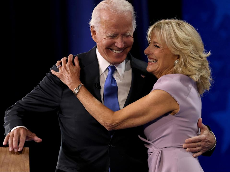 <p>Bidens open inauguration events with message of positivity</p> (Getty Images)