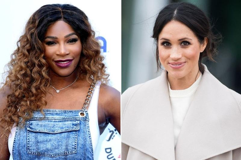 Serena Williams and Meghan Markle   Ian West/PA Images; Samir Hussein/WireImage