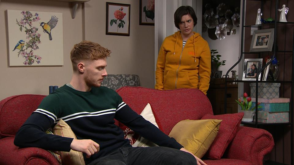 FROM ITV  STRICT EMBARGO  Print media - No Use BeforeNo Use Before Tuesday 2nd February 2021 Online Media - No Use Before 0700hrs  Tuesday 2nd February  2021  Emmerdale - Ep 8966  Thursday 11th February 2021 - 1st Ep  Luke Posner [MAX PARKER] tells Victoria Sugden [ISABEL HODGINS] they need to talk. SheÕs stunned when he confesses that heÕs been with a man...  Picture contact David.crook@itv.com   This photograph is (C) ITV Plc and can only be reproduced for editorial purposes directly in connection with the programme or event mentioned above, or ITV plc. Once made available by ITV plc Picture Desk, this photograph can be reproduced once only up until the transmission [TX] date and no reproduction fee will be charged. Any subsequent usage may incur a fee. This photograph must not be manipulated [excluding basic cropping] in a manner which alters the visual appearance of the person photographed deemed detrimental or inappropriate by ITV plc Picture Desk. This photograph must not be syndicated to any other company, publication or website, or permanently archived, without the express written permission of ITV Picture Desk. Full Terms and conditions are available on  www.itv.com/presscentre/itvpictures/terms