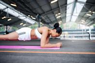 <p>Don-A-Matrix likes this classic move that can be a bit more challenging than the traditional straight arm plank since it recruits a few more essential core muscles. </p><p><strong>How to:</strong> Place forearms on the floor with elbows aligned below shoulders and arms parallel to your body at about shoulder width. Ground toes into the floor and squeeze glutes to stabilize your body. Your legs should be working, too; be careful not to lock or hyperextend your knees. You can either hold the move, or step your feet out one at a time for a greater challenge.</p>