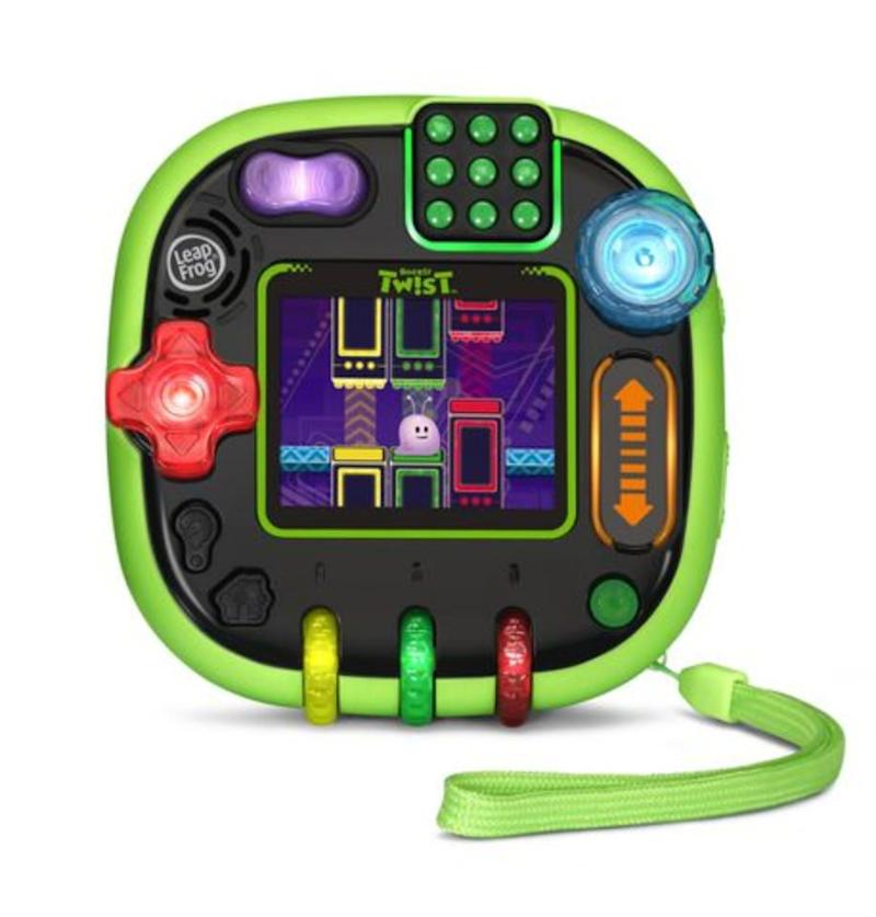 "Play 12 games in a cool, new way using four sides of colorful, light-up controls including buttons.&nbsp;<strong>Ages:</strong> 4+&nbsp;<strong>Get it at:</strong> <a href=""https://www.walmart.ca/en/ip/leapfrog-rockit-twist-english/6000199777574"" target=""_blank"" rel=""noopener noreferrer"">Walmart</a>, $69.97"