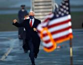 U.S. Vice President Mike Pence at a rally in Kinston