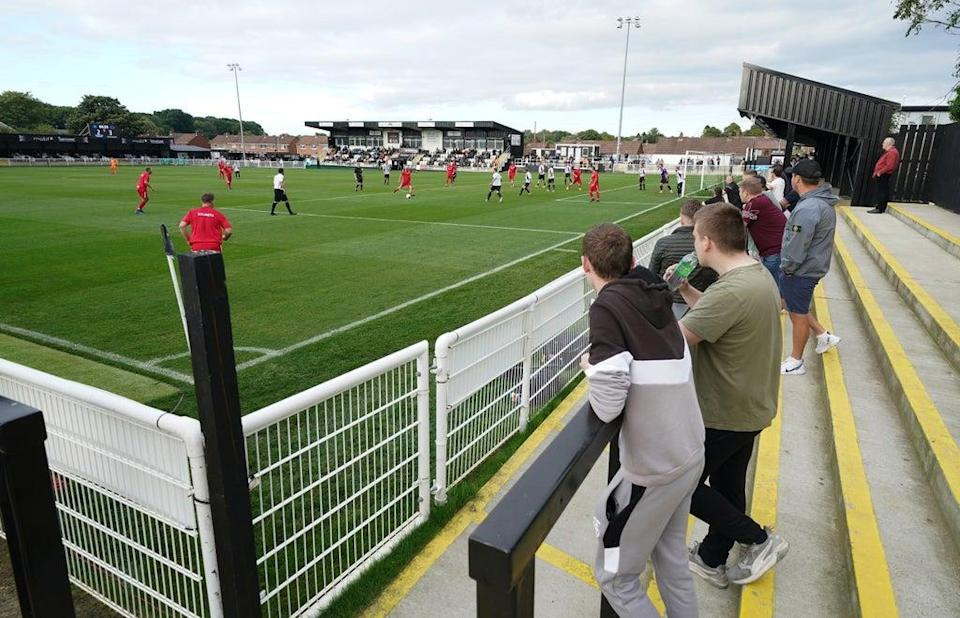 Non-league Spennymoor hosted a unique charity match (Mike Egerton/PA) (PA Wire)