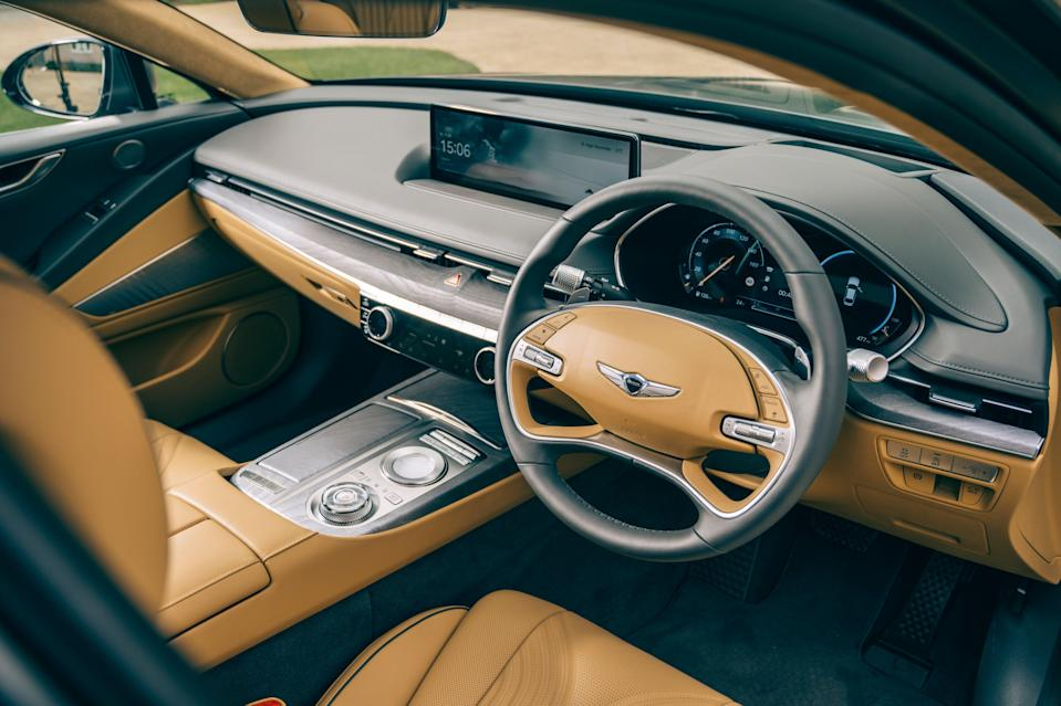 Luxury: High tech oozes from every inch of the cabin (Genesis)