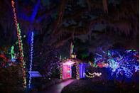 """<p>You don't need to go somewhere with snowfall or below-freezing weather to experience a Christmas town. Myrtle Beach holds countless holiday activities and shows that make for an incredibly fun (and relatively warm) trip. One of it's more popular events is the <a href=""""https://www.brookgreen.org/events/nights-thousand-candles-2020"""" rel=""""nofollow noopener"""" target=""""_blank"""" data-ylk=""""slk:Night of a Thousand Candles"""" class=""""link rapid-noclick-resp"""">Night of a Thousand Candles</a>, where you can see Brookgreen Gardens come to life with the soft glow of almost 3,000 hand-lit candles and countless twinkling lights. Walk through the gardens with your winter drink of choice while listening to Christmas music and carolers singing. You can even catch a couple <a href=""""https://www.visitmyrtlebeach.com/things-to-do/holiday-getaway-guide/holiday-shows/"""" rel=""""nofollow noopener"""" target=""""_blank"""" data-ylk=""""slk:holiday shows"""" class=""""link rapid-noclick-resp"""">holiday shows</a> while you're in town. </p>"""