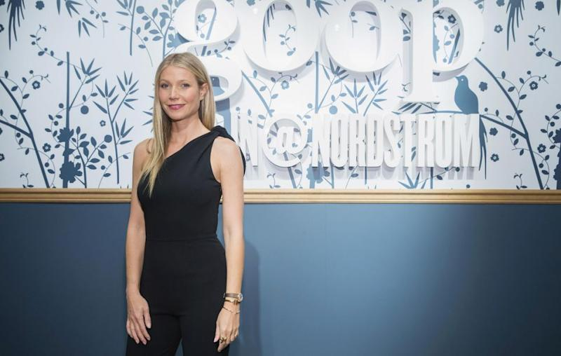 """Goop was awarded the first ever The Skeptic Magazine's """"Rusty Razor"""" award for the """"most audacious pseudo-science"""". Gwyn is here at the Goop launch in Nordstrom in May. Source: Getty"""