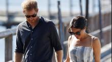 Meghan Markle shamed for wearing dress with thigh-high slit while on tour with Prince Harry