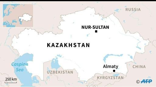 Map of Kazakhstan where presidential elections will be held Sunday
