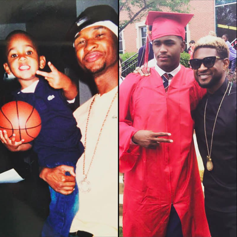 "<p>Usher's marriage to Tameka Foster is long over, but his relationship with her son from a previous relationship, Ryan Glover, continues. The singer attended his one-time stepson's graduation from Woodward Academy in College Park, Ga., on May 13. ""Congratulations Son!!! #classof2017,"" Usher later wrote alongside now and then photos. ""@ryan1glover Go get em killa!!! This story never gets old….I'm so proud of you. Watching you from the beginning all over again. Love 2Dad."" (Photo: Usher via Instagram) </p>"