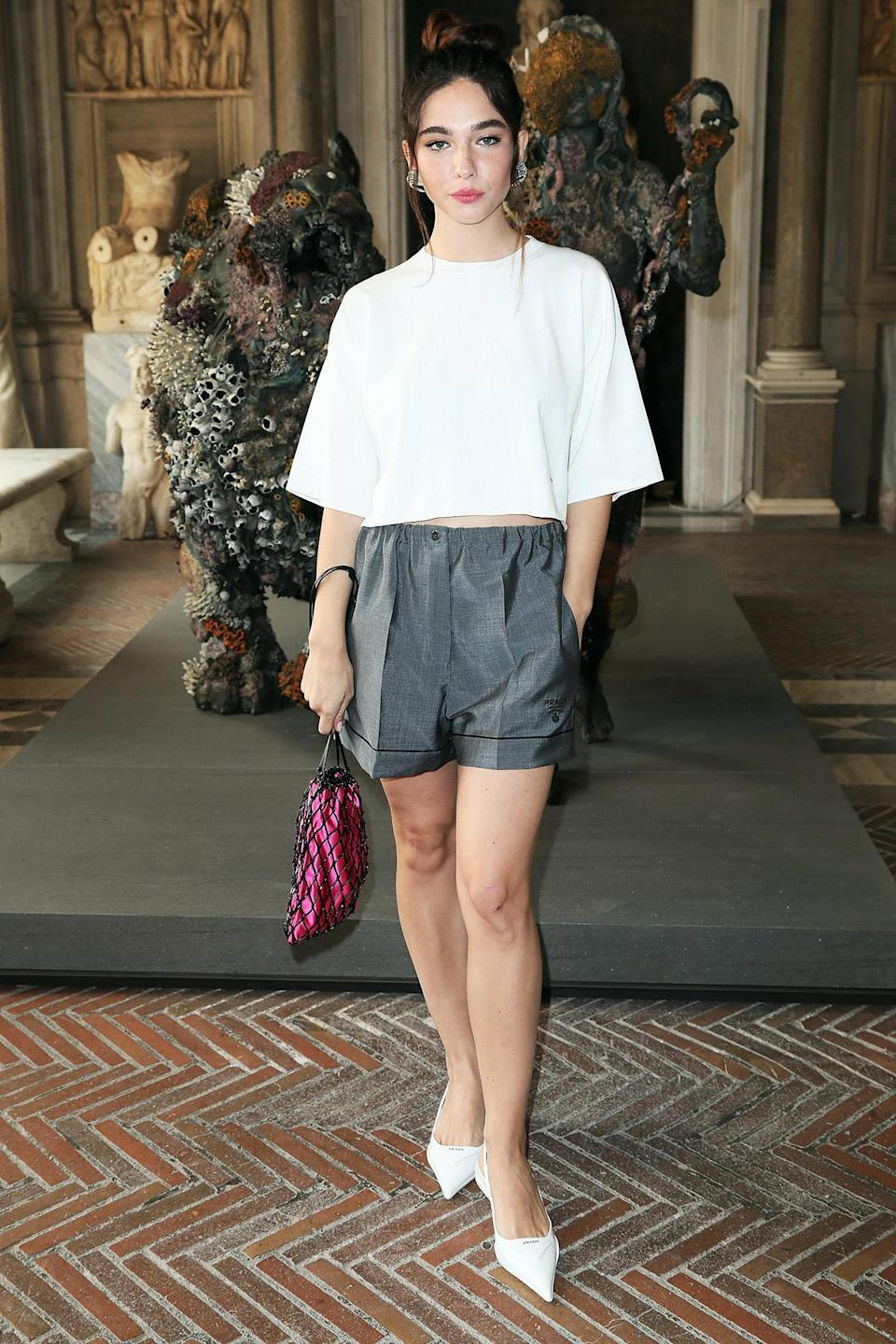 <p>Matilda De Angelis attends the Damien Hirst Archaeology now exhibition, sponsored by Prada, at Galleria Borghese on June 7 in Rome.</p>