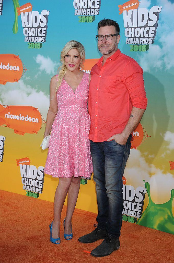 """<p>The couple addressed Dean's infidelity on their reality show <em>True Tori</em> because Tori wanted to document their reconciliation, per <a href=""""https://people.com/tv/tori-and-dean-10-years-5-kids-and-all-the-ups-and-downs-in-between/#2014"""" rel=""""nofollow noopener"""" target=""""_blank"""" data-ylk=""""slk:People"""" class=""""link rapid-noclick-resp""""><em>People</em></a>. Dean cheated on Tori while she and their children were celebrating the holidays and, soon after, checked into a rehab facility. He expressed his shame on screen and called his actions """"disgusting."""" The couple is still married and in counseling.</p>"""