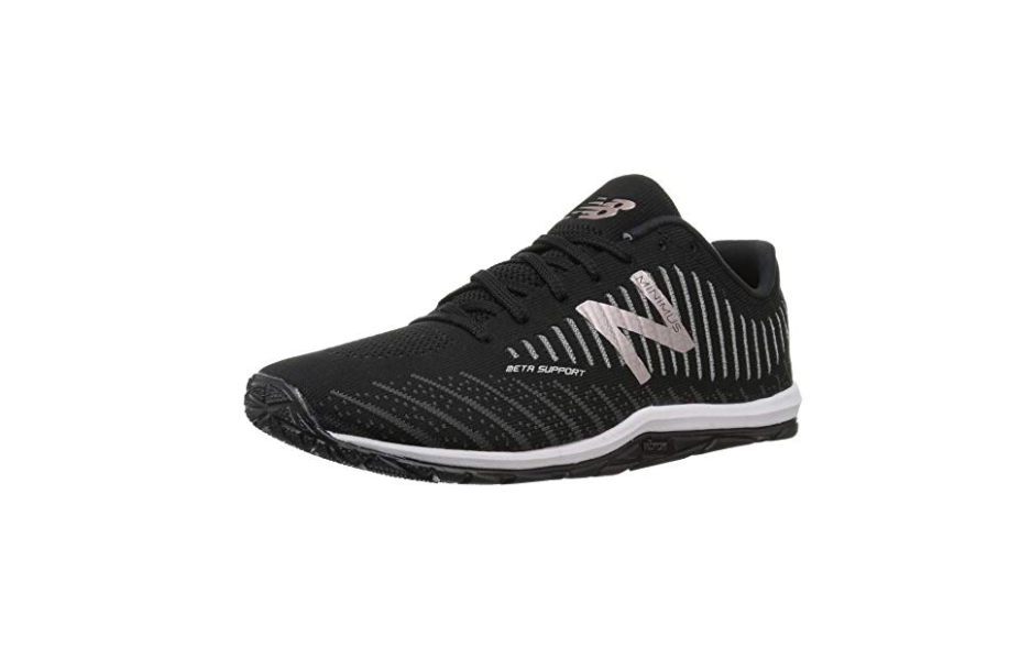 """<p><strong>New-Balance</strong></p><p>zappos.com</p><p><strong>$99.95</strong></p><p><a href=""""https://go.redirectingat.com?id=74968X1596630&url=https%3A%2F%2Fwww.zappos.com%2Fp%2Fnew-balance-minimus-20v7-trainer-black-phantom%2Fproduct%2F8998350%2Fcolor%2F107348&sref=https%3A%2F%2Fwww.prevention.com%2Ffitness%2Fworkout-clothes-gear%2Fg22749024%2Fbest-cross-training-shoes-for-women%2F"""" rel=""""nofollow noopener"""" target=""""_blank"""" data-ylk=""""slk:SHOP NOW"""" class=""""link rapid-noclick-resp"""">SHOP NOW</a></p><p>Grip is important for everything from box jumps to front <a href=""""https://www.prevention.com/fitness/workouts/g28422315/squat-variations/"""" rel=""""nofollow noopener"""" target=""""_blank"""" data-ylk=""""slk:squats"""" class=""""link rapid-noclick-resp"""">squats</a>. Made with a Vibram outsole,<strong> you can rely on these New Balance sneakers for traction. </strong>They also feature a supportive foam midsole and a removable insole, so you can swap in your own <a href=""""https://www.prevention.com/health/health-conditions/g21969563/plantar-fasciitis-insoles/"""" rel=""""nofollow noopener"""" target=""""_blank"""" data-ylk=""""slk:orthotics"""" class=""""link rapid-noclick-resp"""">orthotics</a>. They've got a unique look, thanks to the asymmetrical collar. </p><p>""""I love flat shoes, so I like that these are thin-soled, flexible, and flat. Big arch support actually hurt my feet. They're very lightweight, and I have enjoyed using them in my HIIT workouts,"""" an Amazon customer writes. </p>"""