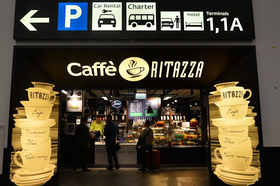 Caffe Ritazza seen at Vienna International Airport. Friday, November 9, 2018, in Vienna, Austria. (Photo by Artur Widak/NurPhoto via Getty Images)