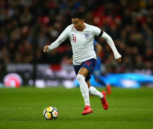 <p>Jesse Lingard<br> Age 25<br> Caps 10<br>Increasingly comfortable on the big stage and capable of the kind of direct running which unnerves international defences. Has done well enough to nudge ahead of Anthony Martial at Old Trafford and was a trusted performer for Southgate at under-21 level.<br>Key stat: Eight of his 13 Premier League goals in his career came this season as he contributed 13 in all competitions. </p>