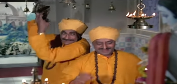 Pran's comedic flair shines through in this surprise hit where he and Ashok Kumar team up as two happy-go-lucky crooks.