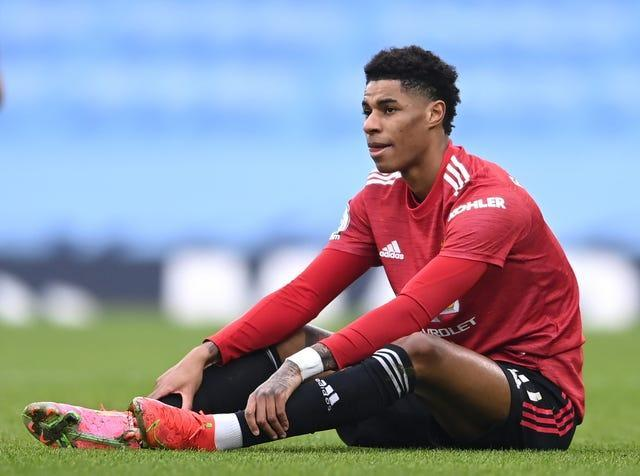 Marcus Rashford has been dealing with a foot/ankle issue for more than a month