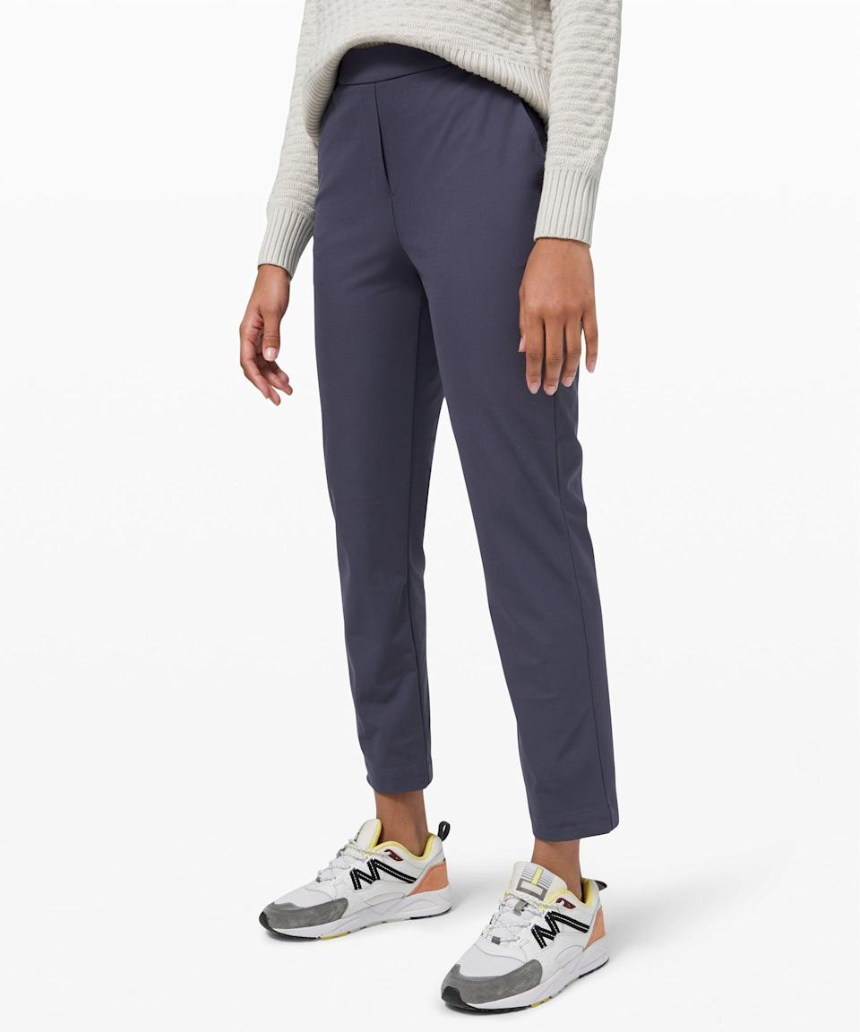 <p>If you want to feel a bit more polished, try this <span>Lululemon Your True Trouser 7/8 Pant</span> ($99, originally $138).</p>
