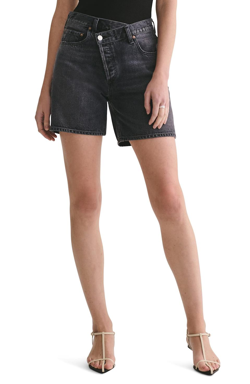 <p>We love the fit of these <span>Agolde Crisscross Shorts</span> ($168). Pair them with open-toe shoes and a fitted, square-neck top.</p>