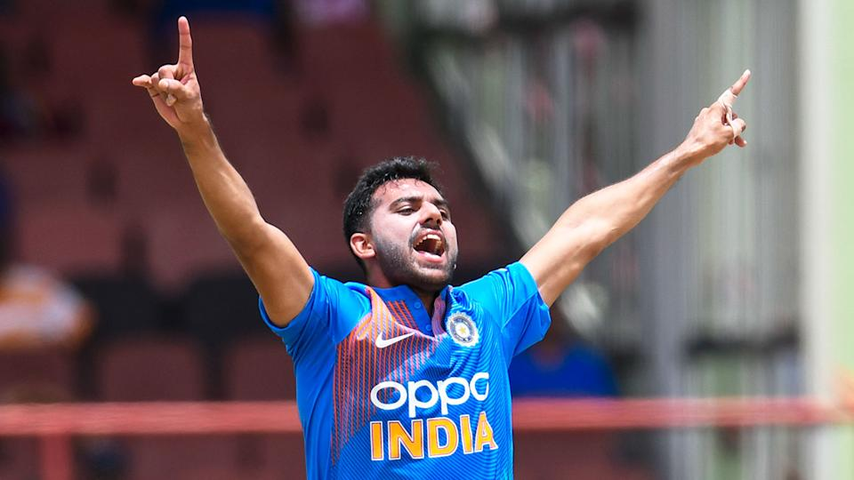 India's Deepak Chahar claimed the best figures as well as the first ever T20i hat-trick.
