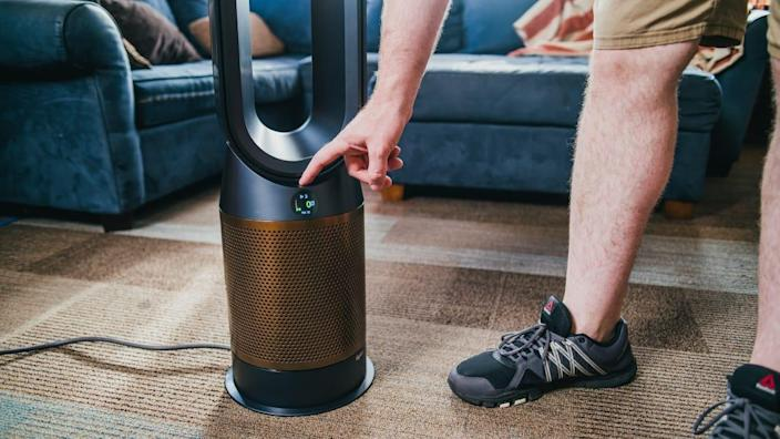 This air purifier has an extra filter that targets formaldehyde particles in the air.