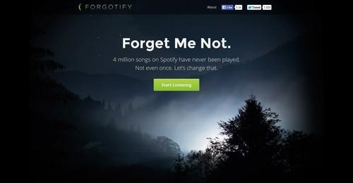 Forgotify screenshot