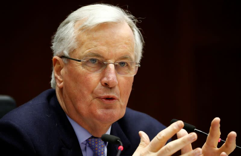 Barnier says EU will stick to Brexit political declaration