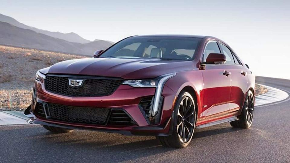 2022 Cadillac CT4-V Blackwing, with twin-turbo V6 engine, revealed