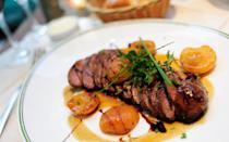 """<p>There's something about duck breast that just seems better suited to the winter months. Try <a href=""""http://www.vickery.tv/phil-vickerys-recipes/this-morning/item/sauteed-duck-breast-with-apricots-green-peppercorns-five-spice"""" rel=""""nofollow noopener"""" target=""""_blank"""" data-ylk=""""slk:Phil Vickery's recipe"""" class=""""link rapid-noclick-resp"""">Phil Vickery's recipe</a> which teams it with apricots, peppercorns and five spice. [Photo: Getty] </p>"""