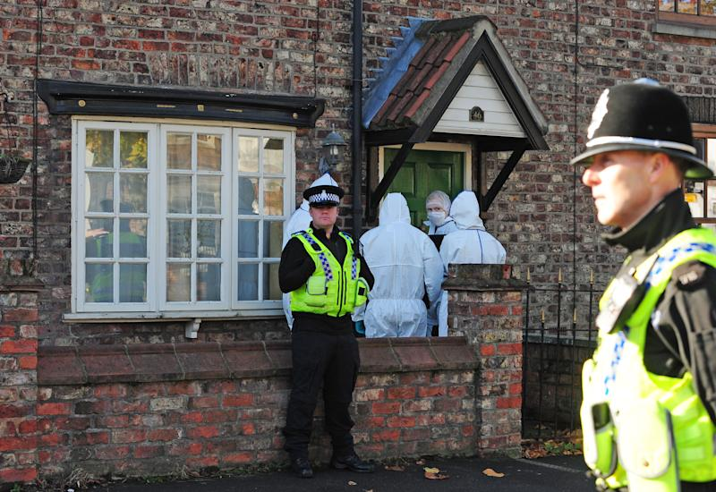 Embargoed to 0001 Friday March 15 File photo dated 29/10/13 of forensic officers entering the home of missing woman Claudia Lawrence in Heworth, York, after launching a fresh review of the case. Her father Peter Lawrence has said it is getting more difficult to believe the university chef is alive after nearly 10 years without her.
