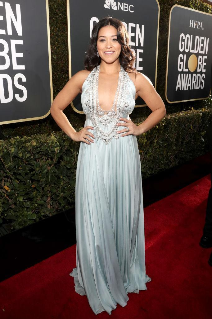 <p>Gina Rodriguez attends the 76th Annual Golden Globe Awards at the Beverly Hilton Hotel in Beverly Hills, Calif., on Jan. 6, 2019. (Photo: Getty Images) </p>