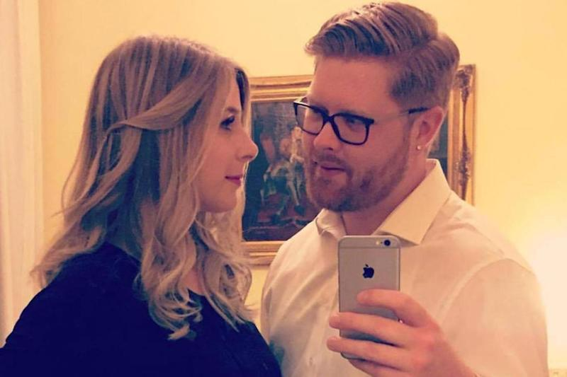Heartbroken: Christine Archibald, the first named victim of Saturday's attack, with fiance Tyler Ferguson