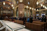 <p>A view of the service at the Cathedral of St. Matthew the Apostle.</p>