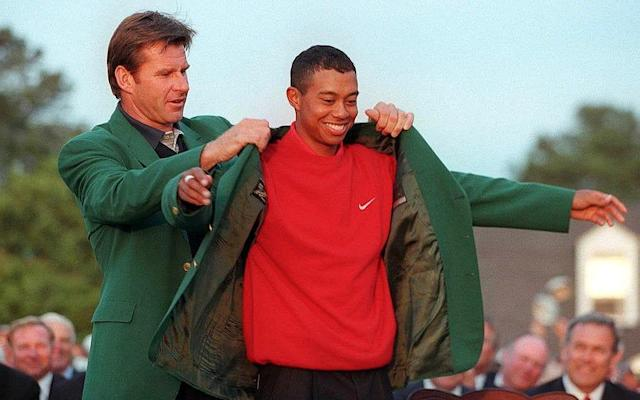 <span>McIlroy remembers Tiger Woods' 1997 triumph well</span> <span>Credit: AFP </span>