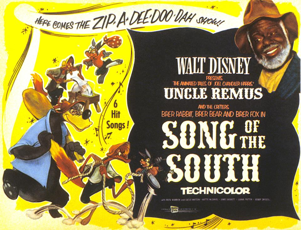 Song Of The South, poster, James Baskett, (upper right), 1946. (Photo by LMPC via Getty Images)