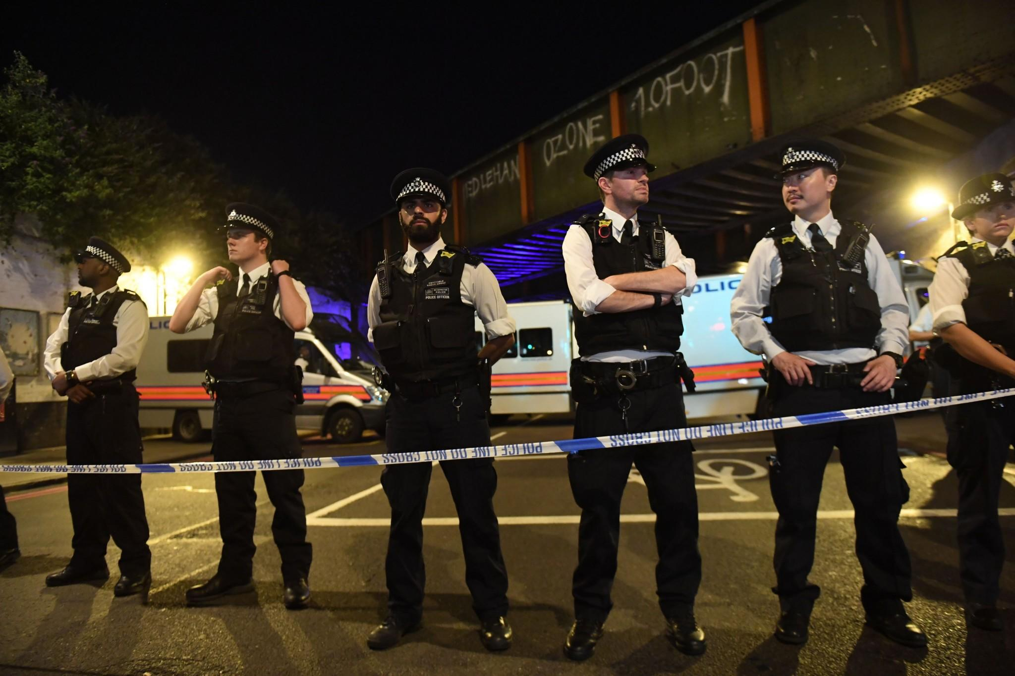 Police attend the scene of the Finsbury Park mosque attack (PA Images)