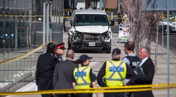 Family members of Alek Minassian, who killed 10 people when he drove a rental van down the sidewalk of Yonge Street in 2018, had asked to appeal a ruling that allowed media to access materials seized when police executed a search of the home he shared with relatives. (Aaron Vincent Elkaim/Canadian Press - image credit)