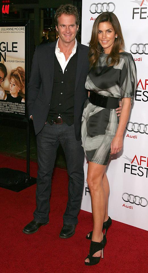 """Randy Gerber and <a href=""""http://movies.yahoo.com/movie/contributor/1800172527"""">Cindy Crawford</a> at the AFI Fest 2009 screening of <a href=""""http://movies.yahoo.com/movie/1810057758/info"""">A Single Man</a> - 11/05/2009"""