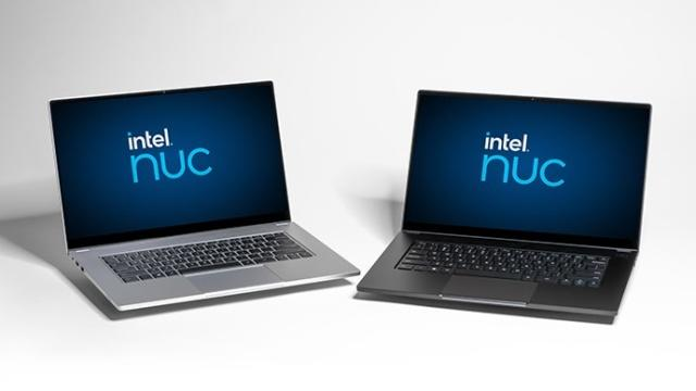 The Intel NUC M15 Laptop Kit brings Intel's technical expertise to the whitebook market. Introduced in November 2020, the laptop kit provides Intel's channel customers with a premium, precision engineered laptop kit.  (Credit: Intel Corporation)